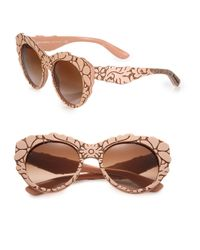 Dolce & Gabbana | Pink Mama's Brocade 53mm Cat's-eye Sunglasses | Lyst
