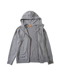 BOSS Orange | Gray Hooded Sweatshirt Jacket 'ztylo 1' In Cotton for Men | Lyst