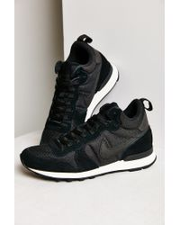 Nike - Black Internationalist Mid Sneaker - Lyst