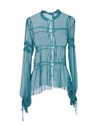 INTROPIA - Green Long Sleeve Shirt - Lyst