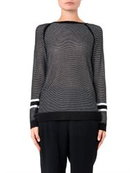 Rag & Bone   Black Martina Perforated Sweater   Lyst