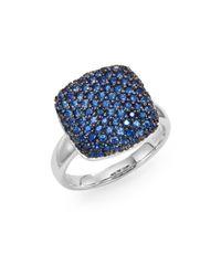 Effy | Metallic Final Call Sapphire & 14K White Gold Ring | Lyst
