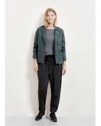Violeta by Mango - Green Studded Biker Jacket - Lyst