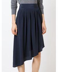 Unconditional - Blue Asymmetric Pleated Skirt - Lyst