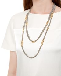 Jaeger | Multicolor Curb Link And Chain Necklace | Lyst