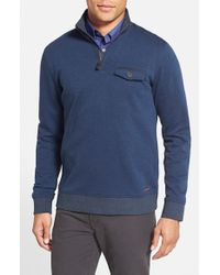 Ted Baker | Blue 'newbevy' Quarter Zip Sweatshirt for Men | Lyst