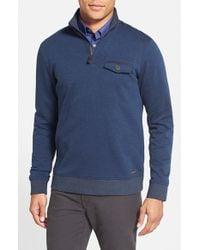 Ted Baker - Blue 'newbevy' Quarter Zip Sweatshirt for Men - Lyst