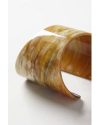 Anthropologie | Brown Banded Horn Cuff | Lyst