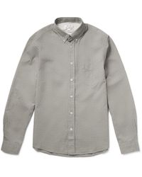 Acne Studios - Gray Isherwood Button-Down Collar Cotton Oxford Shirt for Men - Lyst