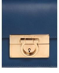 Ferragamo - Blue Small Aileen Smooth Leather Bag - Lyst