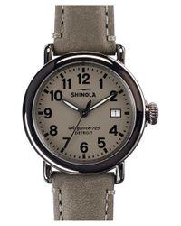 Shinola - Brown 'the Runwell' Leather Strap Watch - Lyst