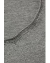 HUGO - Gray Relaxed-fit T-shirt In Supima Cotton for Men - Lyst
