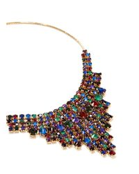Erickson Beamon | Multicolor 'hyperdrive' Swarovski Crystal Tiered Drop Necklace | Lyst