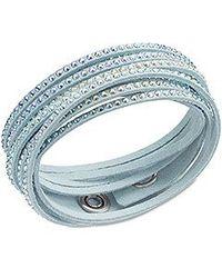 Swarovski - Blue Slake Bracelet - Lyst