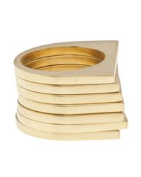 Uncommon Matters | Metallic Set Of 7 Rings | Lyst