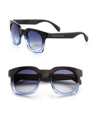 Marc By Marc Jacobs | Blue Structural 47Mm Square Sunglasses | Lyst