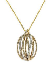 Effy | Metallic Doro 14kt. Yellow Gold And Diamond Pendant Necklace | Lyst