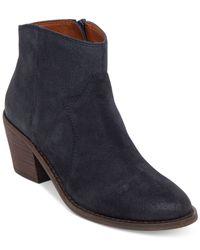 Lucky Brand - Blue Women's Marcos Western Mid-heel Booties - Lyst