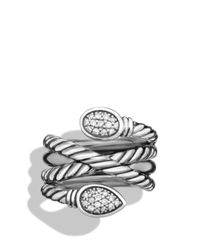 David Yurman | Metallic Renaissance Ring With Diamonds | Lyst