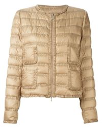 Moncler - Natural 'lissy' Padded Jacket - Lyst