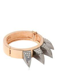 Mawi | Metallic Crystal Claw Cuff Bracelet | Lyst