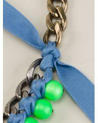 Lanvin - Metallic Beaded Necklace - Lyst