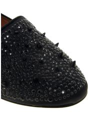 Sam Edelman | Black Adena Studded Flat Shoe | Lyst