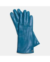 COACH - Blue Iconic Leather Glove - Lyst