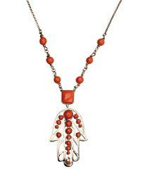 Roberto Cavalli | Pink Necklace | Lyst