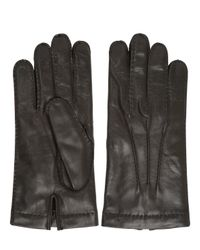 Mario Portolano | Brown Handmade Nappa Leather Gloves | Lyst