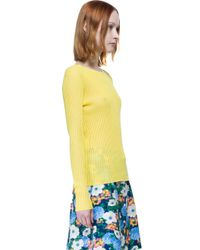 Carven - Yellow T-shirt - Lyst