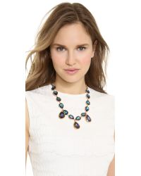Oscar de la Renta - Blue Large Crystal Teardrop Necklace - Lyst