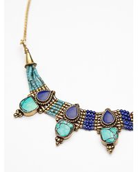 Free People - Metallic Free Bird Necklace - Lyst