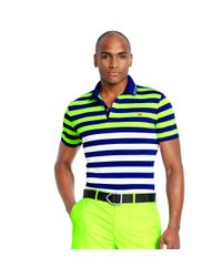 Ralph Lauren | Green Slim-fit Striped Polo Shirt for Men | Lyst
