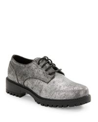Lord & Taylor - Metallic Chreneline Derby Shoes - Lyst