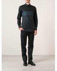 Dolce & Gabbana - Blue Paneled Shirt for Men - Lyst