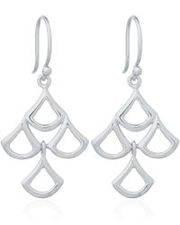 Dinny Hall | Metallic Small Trapeze Multi Drop Earrings In Sterling Silver | Lyst