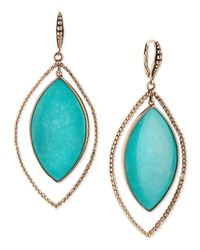 Stephen Dweck | Blue Nouveau Beaded Turquoise Marquis Earrings | Lyst
