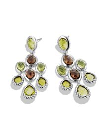 David Yurman - Yellow Chandelier Earrings with Lemon Citrine Smoky Quartz and Peridot - Lyst