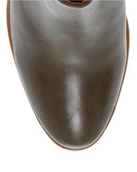 Dune | Brown Pema Stacked Heel Bootie | Lyst