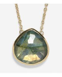 Cole Haan - Green Semi-precious Necklace - Lyst