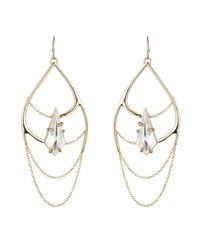 Alexis Bittar | Metallic Gold Liquid Crystal Draping Chain Earring | Lyst