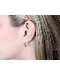 Tada & Toy | Metallic Silver Star Hoops | Lyst