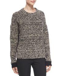 Rag & Bone - Black Rue Colorblock Knit Pullover Sweater - Lyst