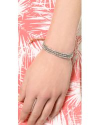 Shashi - Metallic Blaire Slide Bracelet - Silver - Lyst