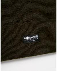 ASOS - Natural Thinsulate Beanie In Khaki for Men - Lyst