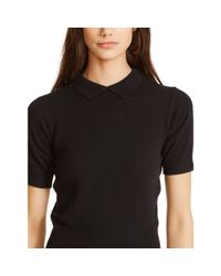Polo Ralph Lauren | Black Cashmere Collared Sweater | Lyst