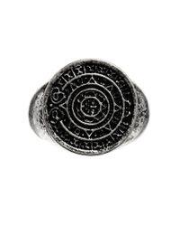 ASOS - Metallic Ring With Aztec Pattern for Men - Lyst