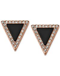 Michael Kors | Metallic Rose Gold-Tone Jet Triangle Stud Earrings | Lyst