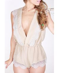 Jolies Mômes | Natural Alma Playsuit | Lyst